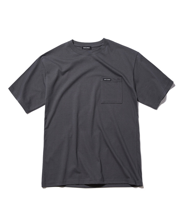 LOGO POCKET TEE grey